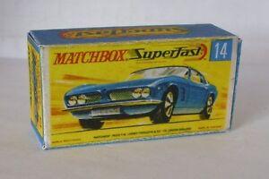 Repro Box Matchbox Superfast Nr.14 Iso Grifo ältere Box