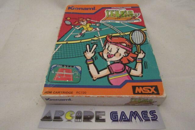 KONAMI'S TENNIS MSX RC720 1984 seller pro)