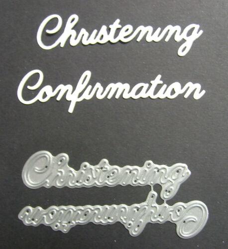 Christening /& Confirmation Word Set Britannia Dies