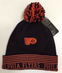 2ca3752bc3c Image is loading Philadelphia-Flyers-NHL-Black-Orang-Reebok-Winter-Cuffed-