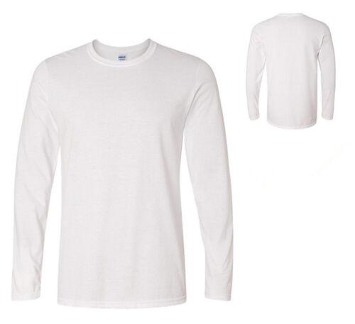 New Mens Long Sleeve Plain Top 100/% Cotton Designer Style Fit T Shirt XS-XXL