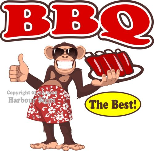 Monkey Concession Food Truck Sticker BBQ DECAL Choose Your Size
