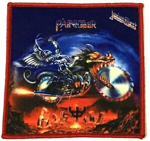 JUDAS-PRIEST-Painkiller-Square-Printed-Patch-Red-Stitching-aufnaher-parche