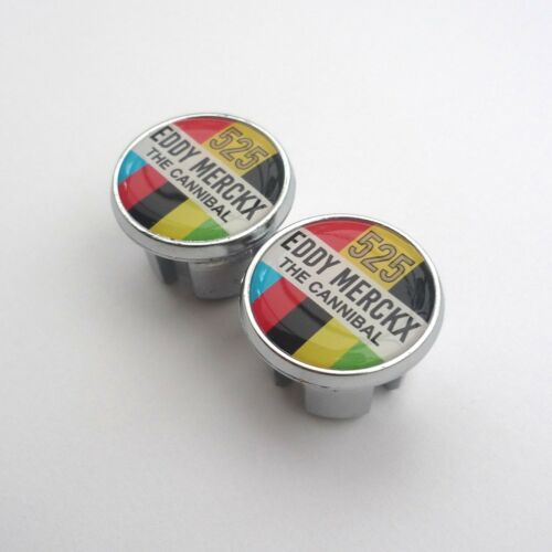 Chrome Bar Plugs /& Bar Trim Tape Celebrating Eddy Merckx The Cannibal 525 Wins