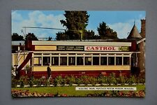 R&L Postcard: Electric Tram Beaulieu Museum, Rootes Castrol Oil Advertising