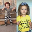 Newest Baby Toddler Kids Boy Girl Clothes Cool Short Sleeve Top Tee Shirts