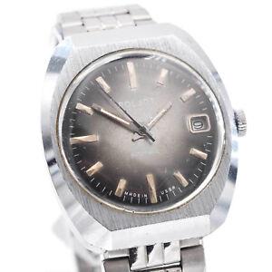 Vintage-Poljot-Armbanduhr-Herrenuhr-Edelstahl-Automatik-Datum-um-1970