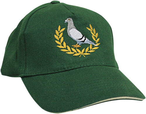 BASEBALLCAP CAP BERRETTO muetze gruen con stick piccioni SPORT piccione allori tb673