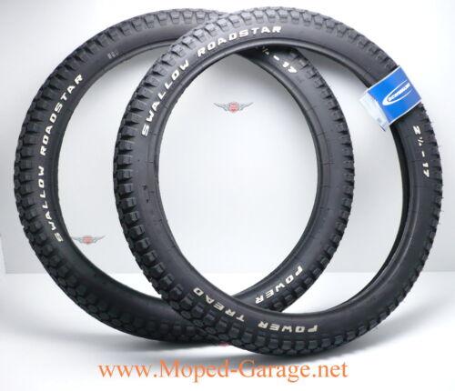 Puch Maxi Mofa Moped Schwalbe Roadstar Reifen Satz 2 1//4 x 17 Neu*