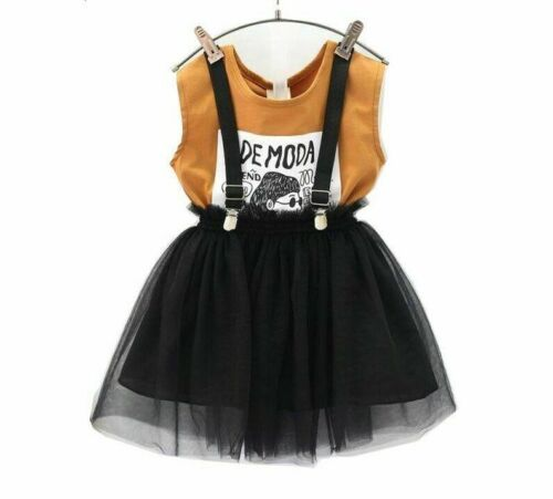 Girls Clothes Set Brown Shirt Overall 2 pcs Clothing Fashion Kids Girl Outfits
