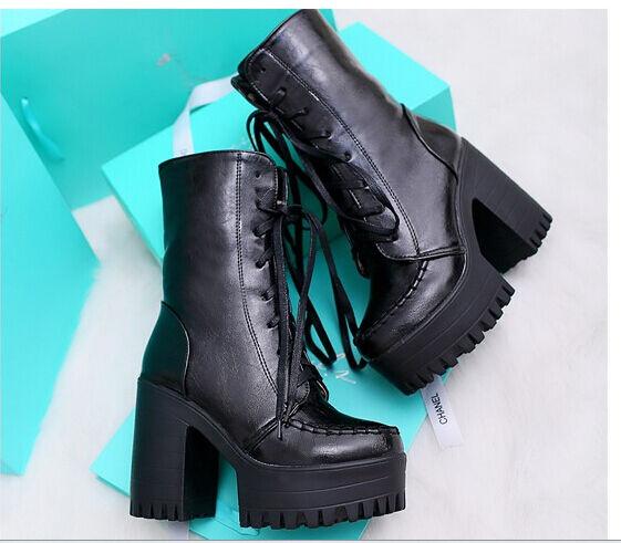 Bottines bottes femme hauts talons cm 11 noir chaud confortable comme cuir 9019