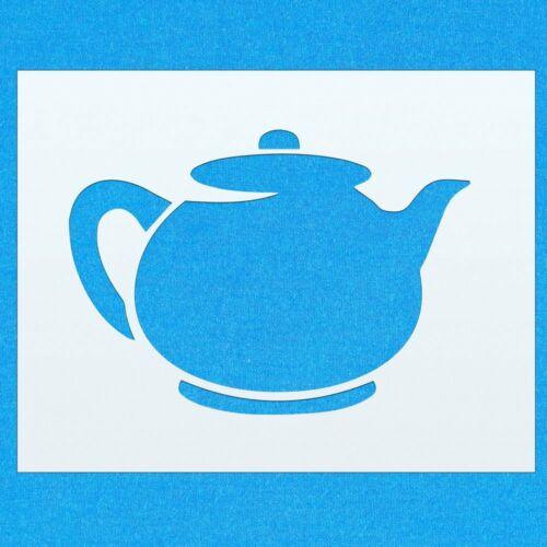 Tea Pot Kitchen Coffee Cup Mylar Airbrush Painting Wall Art Crafts Stencil 1