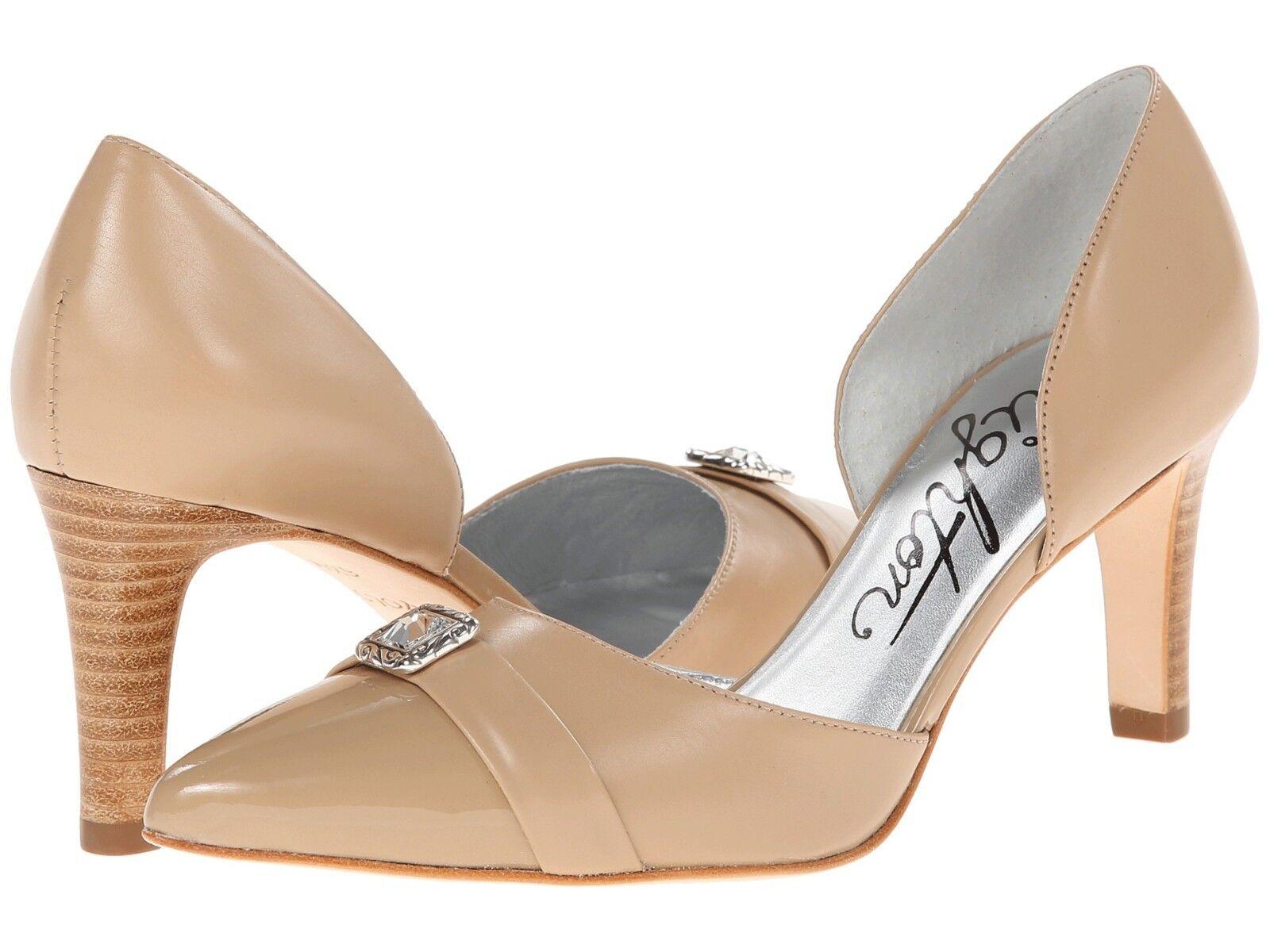 NIB Brighton Yolo Women's Size M 10 M Size Sand Beige Nude Leather Heels Pumps $228 b7033e