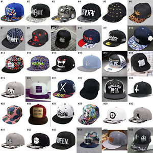 2017 NEW Men's Fashion bboy Hip Hop Adjustable Baseball Cap Snapback Hats AAA++