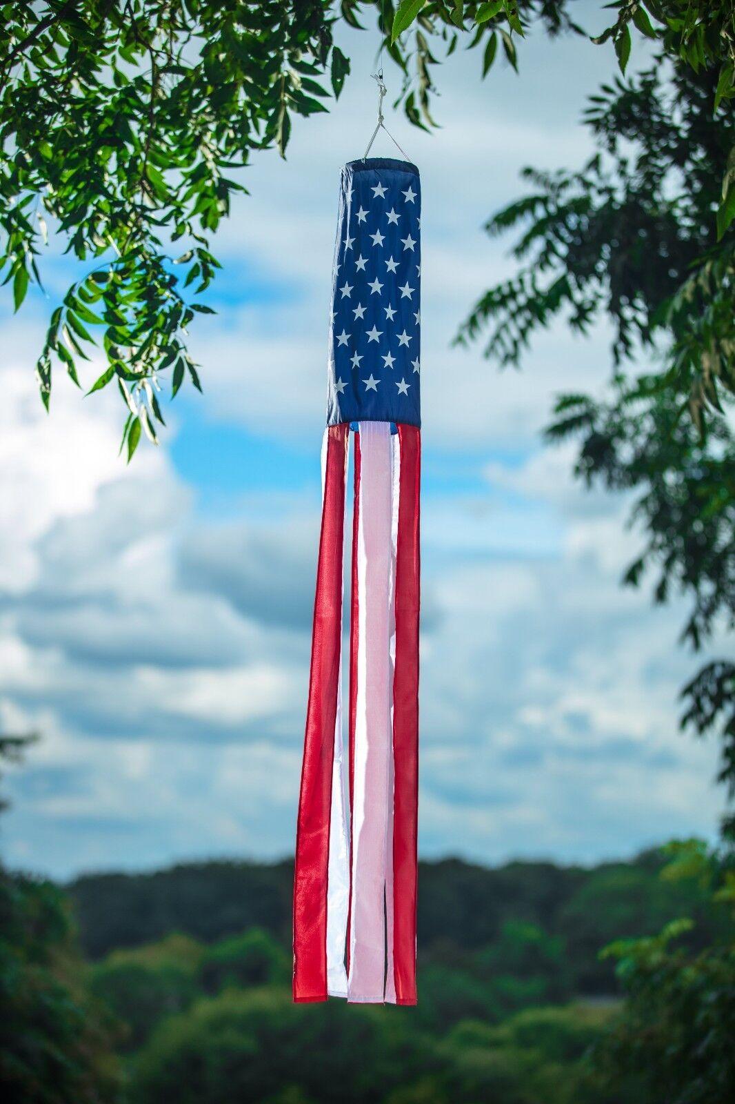 American Flag Windsock 60
