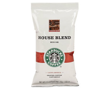 Starbucks Coffee Regular House Blend 2.5oz Packet 18/Box ...