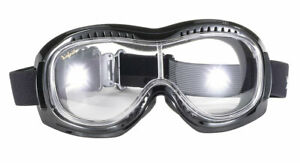 Motorrad Biker Jethelm Brille Airfoil Googles  mit Polsterung und UV-Schutz NEU