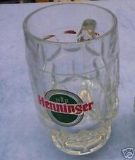 Bierkrug aus Glas Henninger Bräu Frankfurt Sammlungsauflösung 0,3l ( 9 st vorh