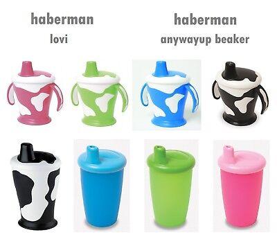Haberman tasse bec Bécher vache//Classique sans déversement étanche Poignées
