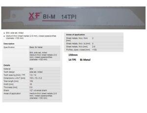 5-PCS-14TPI-152mm-Bi-Metal-Reciprocating-Saw-Blade-for-METAL-OEM-S918BF-DW4808
