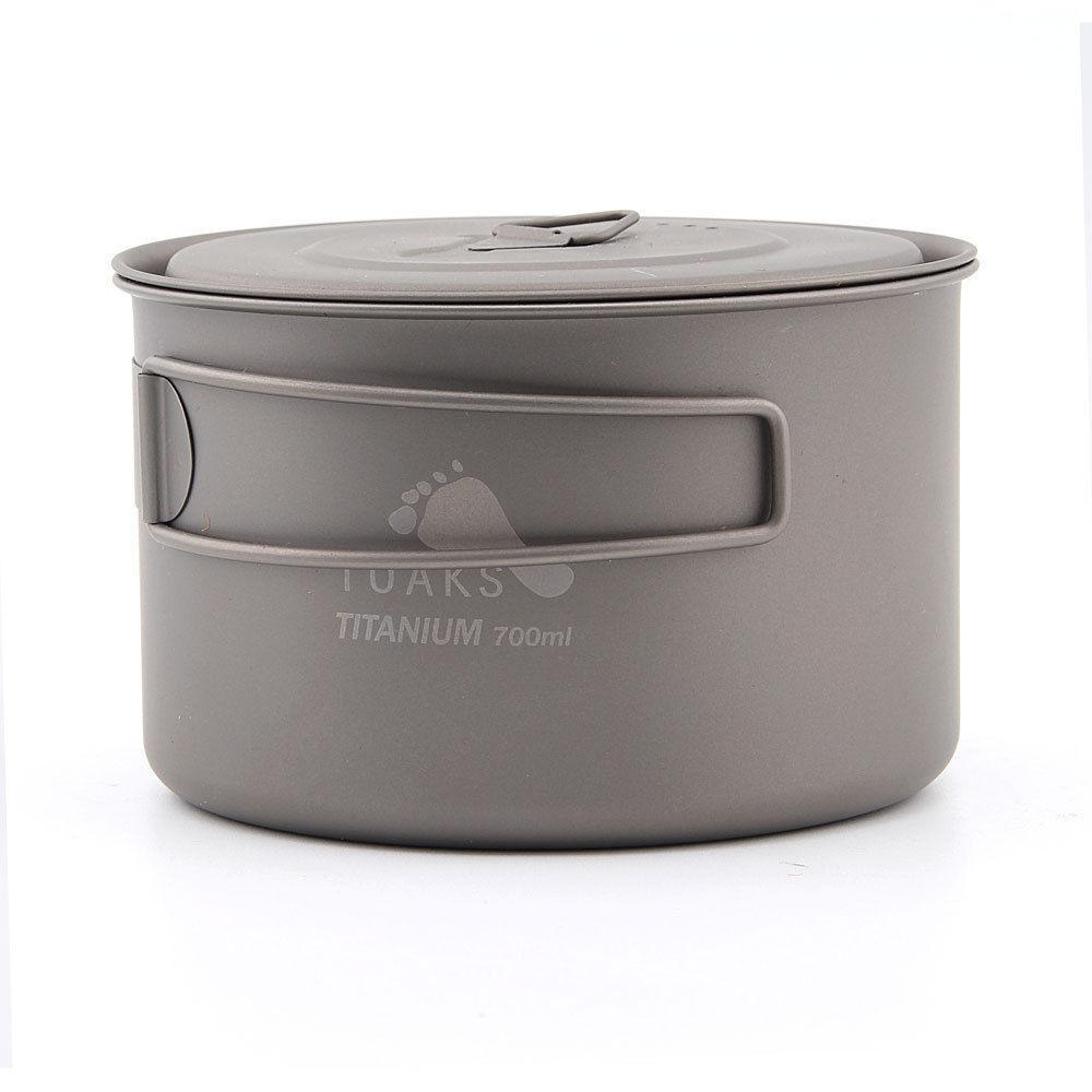 TOAKS POT-700-D115-L Ultralight Titanium Camping  Pot Outdoor Cup  w Lid 700   the cheapest