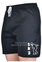 Big Mens Black Bts Rudy Ska Shorts 2xl 3xl 4xl 5xl 6xl 7xl 8xl