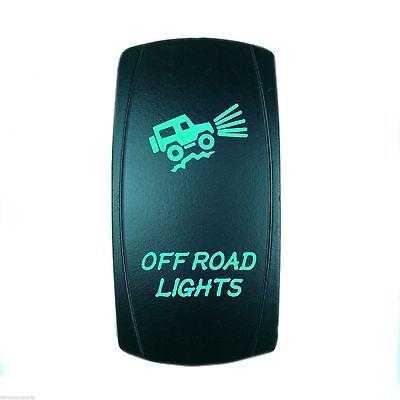 12V 20A ROCKER SWITCH OFFROAD LIGHTS GREEN LASER LED UTV BOAT TRUCK