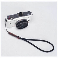 Black Camera Nylon Hand Wrist strap For Canon Nikon Panasonic Sony Fuji Samsung