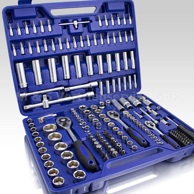 BITUXX® Ratschenschlüssel Werkzeugkoffer 171tlg Knarrenkasten Ratsche Nusskasten