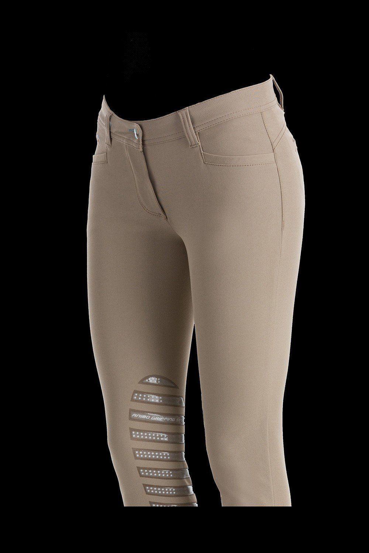 Animo Damas Pantalones De Montar  De Agarre De Silicona Rodilla Noa Beige I 44 Reino Unido 12  orden en línea