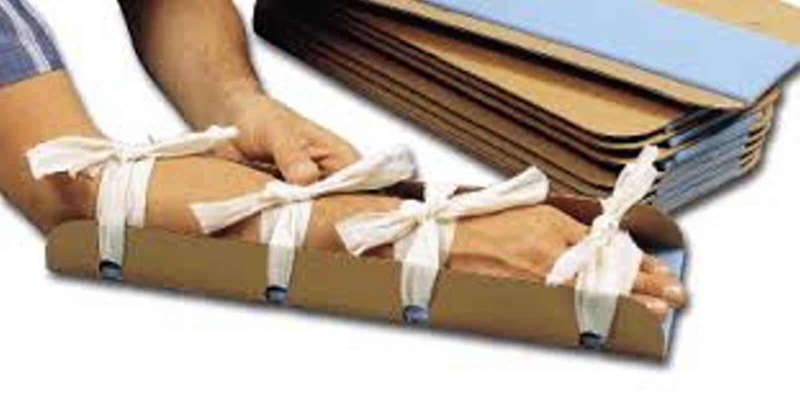 (x25) 18x9  Emergency Broken Arm Ankle Bone Cardboard Center Foam  Splints