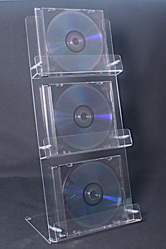 Blueray,CD Aufsteller,CD,CD Ständer,3 fach,Acrylglas