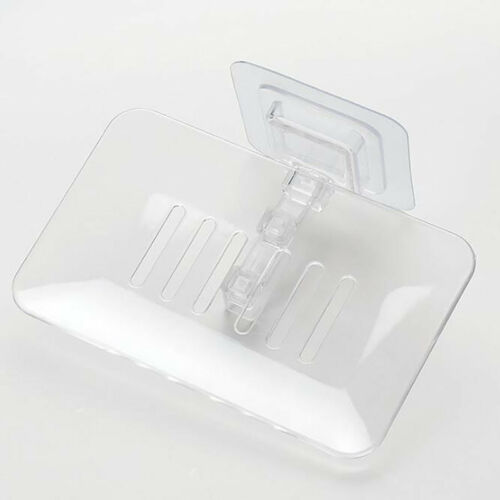 Wall Soap Holder Dish Basket Tray Bathroom Shower Soap Cup Tray RE