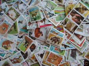 TIMBRES-ANIMAUX-1500-TIMBRES-TOUS-DIFFERENTS-ANIMAL-STAMPS