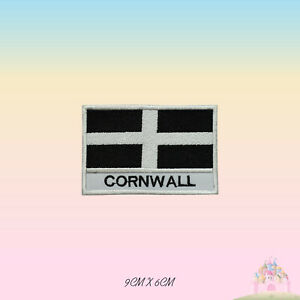 CORNWALL UK County Flag With Name Embroidered Iron On Patch Sew On Badge