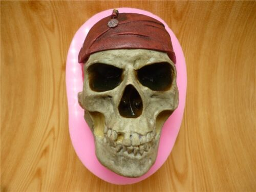 3D Pirate Skull Silicone Fondant Chocolate Sugarcraft Clay Mold Baking Tool DIY