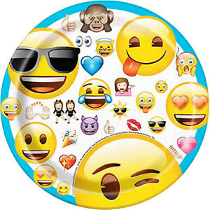 Image Is Loading EMOJI SMALL PAPER PLATES 8 Birthday Party Supplies