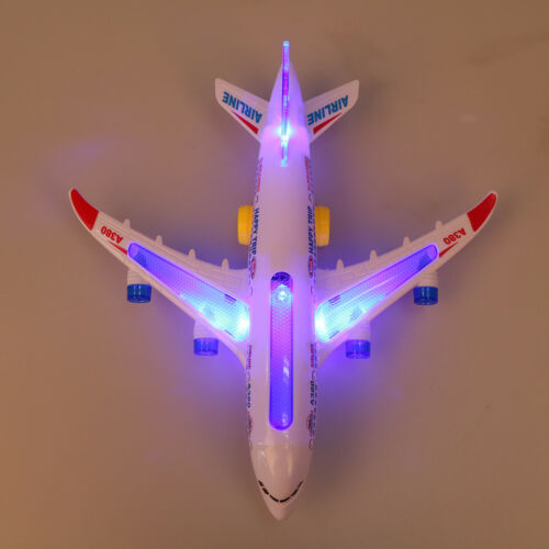 Plastic airbus A380 MOdel airplane electric flash light sound kids toys L/_D