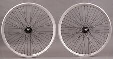 Velocity Chukker Silver Polo Bike Fixed Gear Bike Wheels 48 DT Spokes Wheelset