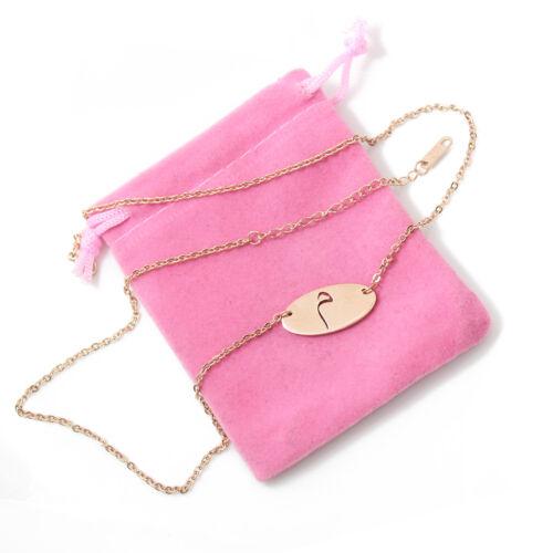 Meem-MiiM-Chapado en Oro Rosa 18 CT alfabeto árabe Collar-Regalo Personalizado