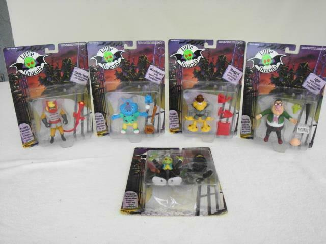 NEW Lot 1991 BANDAI Little Dracula Werebunny Maggot Igor Garlic Garlic Garlic Man Figures 5ef869