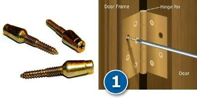 "3 Squeakless Residential .234/"" x 3.5/"" Door Hinge Pin Pack Brass No Squeak"