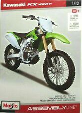 2009 KAWASAKI KX 450f verde Maisto 31175 1:12 DIE CAST
