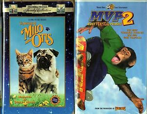 Details about Adventures of Milo and Otis (VHS) & MVP 2 - Most Vertical  Primate (VHS)