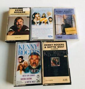KENNY-ROGERS-Bulk-lot-of-five-cassettes-buyfromthebush