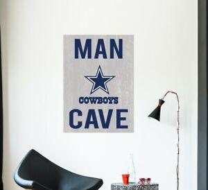 Dallas Cowboys Wall Decal Nfl Sport Logo Vinyl Design Man Cave Room Decor Cg1443 Ebay