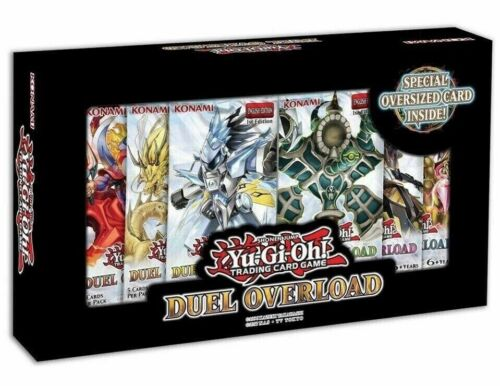 6 booster packs Yugioh TCG Duel Overload Box Set 1st Edition