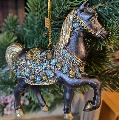 Einhorn Gold rosa lila Unicorn Glitzer Christbaumkugeln Glimmer Weihnacht Pferd