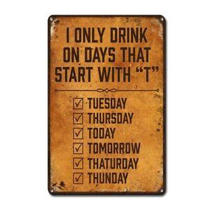 Tin Sign Vintage Retro Metal Poster Bar Pub Wall Decor Drink Good Beer Wine