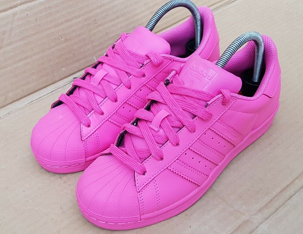 ADIDAS SUPERSTAR 7 PHARRELL WILLIAMS SUPERCOLORS TRAINERS SIZE 7 SUPERSTAR UK PINK EXCELLENT 22ba8e